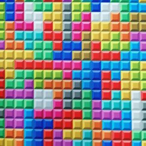 Telas Magomar Patch Motivo Tetris – Colección de estampado pensado para Mascarillas - STRETCH