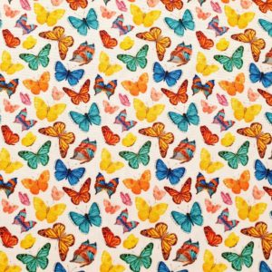 Telas Magomar Patch stretch mariposas mascarillas